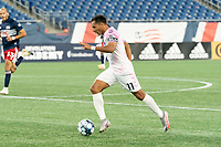 FOXBOROUGH, MA - SEPTEMBER 04: Paulo Junior #11 Forward Madison FC during a game between Forward Madison FC and New England Revolution II at Gillette Stadium on September 04, 2020 in Foxborough, Massachusetts.