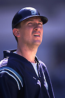John Olerud of the Seattle Mariners during a 2001 season MLB game at Angel Stadium in Anaheim, California. (Larry Goren/Four Seam Images)