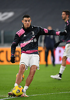 Football Soccer: Tim Cup Semi Finals second leg Juventus vs InternazionaleMilan, Allianz Staium Stadium in Turin, on February 9, 2021.<br /> Juventus' Cristiano Ronaldo during the warm up of the Italian Tim Cup Semi Final match between Juventus vs Inter at Allianz Stadium Stadium in Turin, on February 9, 2021.<br /> UPDATE IMAGES PRESS/Isabella Bonotto