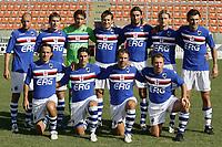 Formazione Sampdoria<br /> La Spezia 16/08/2008 Calcio <br /> Siena Sampdoria <br /> Foto Insidefoto