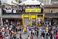 6th street is the party headquarters hub of the SXSW experience offering street musicians, performers, bars and live music venues.