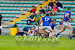 Conor O'Keeffe, Kerry in action against Gary Byrne, Wicklow in the Allianz National Hurling League Division 2A Round 4 at Austin Stack Park, Tralee on Saturday.