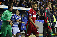Angel Rangel of Swansea City prior to kick off of the Carabao Cup Third Round match between Reading and Swansea City at Madejski Stadium, Reading, England, UK. Tuesday 19 September 2017