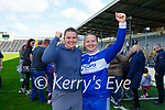 Irish Rugby captain Ciara Griffin celebrates with her sister Fiona Griffin after she captaining Castleisland Desmonds in their Intermediate Championship final win over Chorca Dhuibhne in Fitzgerald Stadium