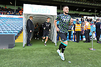 LEEDS, ENGLAND - AUGUST 31: Matt Grimes of Swansea City leads his team mates out of the tunnel to warms up prior to the game during the Sky Bet Championship match between Leeds United and Swansea City at Elland Road on August 31, 2019 in Leeds, England. (Photo by Athena Pictures/Getty Images)
