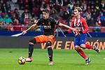 Atletico de Madrid Antoine Griezmann and Valencia Gabriel Paulista during La Liga match between Atletico de Madrid and Valencia C.F. at Wanda Metropolitano in Madrid , Spain. February 04, 2018. (ALTERPHOTOS/Borja B.Hojas)