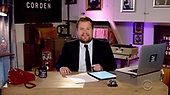 "Pictured in this screen capture: Host James Corden hosts live stream of ""The Late Show With James Corden From His Garage"" on April 13, 2020. (Photo by: CBS via ON-SITEFOTOS)"