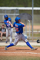 New York Mets Ian Strom (65) bats during a minor league Spring Training game against the St. Louis Cardinals on March 28, 2017 at the Roger Dean Stadium Complex in Jupiter, Florida.  (Mike Janes/Four Seam Images)