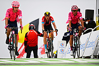 14th July 2021, Muret, France;  TEUNS Dylan (BEL) of BAHRAIN VICTORIOUSduring stage 17 of the 108th edition of the 2021 Tour de France cycling race, a stage of 178,4 kms between Muret and Saint-Lary-Soulan.
