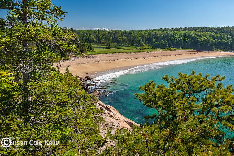 Sand Beach in Acadia National Park, Downeast, ME, USA