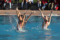 STANFORD, CA - FEBRUARY 7:  (L-R) Debbie Chen, Erin Bell, Michelle Moore of the Stanford Cardinal during Stanford's 88-78 win against the Incarnate Word Cardinals on February 7, 2009 at Avery Aquatic Center in Stanford, California.