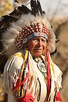 A Native American Sioux Indian Chief