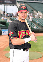 2007:  Jose Morales of the Rochester Red Wings, Class-AAA affiliate of the Minnesota Twins, during the International League baseball season.  Photo By Mike Janes/Four Seam Images