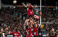 Action from the 2021 Super Rugby Aotearoa final between the Crusaders and Chiefs at Orangetheory Stadium in Christchurch, New Zealand on Saturday, 8 May 2021. Photo: Joe Johnson / lintottphoto.co.nz