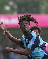 Marcus Bean of Wycombe Wanderers watching the ball during the Sky Bet League 2 match between Wycombe Wanderers and Northampton Town at Adams Park, High Wycombe, England on 3 October 2015. Photo by Andy Rowland.