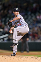 Scranton\Wilkes-Barre RailRiders relief pitcher Nick Rumbelow (45) in action against the Charlotte Knights at BB&T BallPark on May 1, 2015 in Charlotte, North Carolina.  The RailRiders defeated the Knights 5-4.  (Brian Westerholt/Four Seam Images)