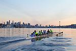 Rowing, Pocock Rowing Foundation, Junior Men's eight, workout, Seattle, Washington State, winter, 2012, Coxswain: Emily Navin; Stroke: Harrison Shure (also rowed 6 six,); 7: Will Van Cleve; 6: Nick Firmani (he also stroked); 5: Sam Pettet; 4: Daniel Rowbotham; 3: Dan Marconi; 2: Grant Van Kampen; Bow: Sam Kurpis.