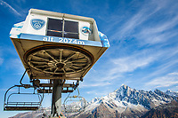 sky lift and cableway in the French Alps, Chamonix, France