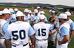 The Centennial Bulldogs talk between innings during NIAA DI baseball action against Galena at Bishop Manogue High School in Reno, Nev., on Thursday, May 19, 2016. Galena won 4-2. Cathleen Allison/Las Vegas Review-Journal