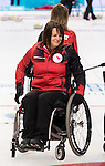 Sochi, RUSSIA - Mar 7 2014 -  Ina Forrest of Canada's Wheelchair Curling Team trains before the Sochi 2014 Paralympic Winter Games in Sochi, Russia.  (Photo: Matthew Murnaghan/Canadian Paralympic Committee)