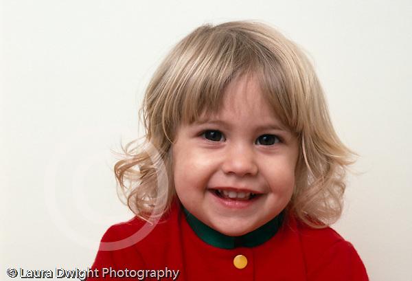 22 month old toddler girl portrait closeup looking at camera horizontal