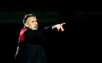 Mark Yates Manager of Crawley Town during the Sky Bet League 2 match between Wycombe Wanderers and Crawley Town at Adams Park, High Wycombe, England on 28 December 2015. Photo by Andy Rowland / PRiME Media Images