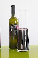 Bottles and decanters. Alfaraz Reserva 2004. Henrque HM Uva, Herdade da Mingorra, Alentejo, Portugal