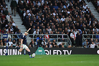 Finn Russell of Scotland takes a conversion attempt during the RBS 6 Nations match between England and Scotland at Twickenham Stadium on Saturday 11th March 2017 (Photo by Rob Munro/Stewart Communications)