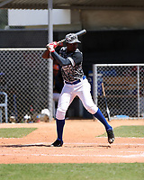 Malvin Valdez participates in an international showcase hosted by JDB Baseball at the Quality Baseball Academy on February 20, 2018 in Santo Domingo, Dominican Republic (Bill Mitchell)