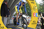 Swedish National Champion Gustav Larsson (SWE) Vacansoleil-DCM starts the Prologue of the 99th edition of the Tour de France 2012, a 6.4km individual time trial starting in Parc d'Avroy, Liege, Belgium. 30th June 2012.<br /> (Photo by Eoin Clarke/NEWSFILE)
