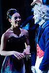 English National Ballet dancers Fernanda Oleivera and Yat-Sen Chang chatting backstage