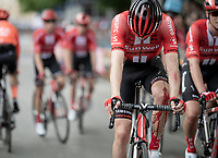 after crashing hard some 6 kilometers before the finish, Tom Dumoulin (NED/Sunweb) crosses the finish line amongst his teammates, having lost more then 4 minutes on the other GC-competitors <br /> <br /> Stage 4: Orbetello to Frascati (228km)<br /> 102nd Giro d'Italia 2019<br /> <br /> ©kramon