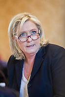 MARINE LE PEN DONNE UNE CONFERENCE DE PRESSE AU PALAIS BOURBON