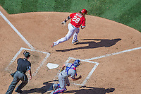 1 June 2014: Washington Nationals outfielder Jayson Werth in action against the Texas Rangers at Nationals Park in Washington, DC. The Rangers shut out the Nationals 2-0 to salvage the third the third game of their 3-game inter-league series. Mandatory Credit: Ed Wolfstein Photo *** RAW (NEF) Image File Available ***