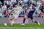 Real Madrid's Marco Asensio and Real Club Celta de Vigo's Kevin Vazquez during La Liga match between Real Madrid and Real Club Celta de Vigo at Santiago Bernabeu Stadium in Madrid, Spain. March 16, 2019. (ALTERPHOTOS/A. Perez Meca)