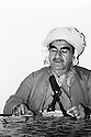 Iraq 1971. General Mustafa Barzani in his office of Haj Omran   Irak 1971 General Mustafa Barzani dans son bureau de Haj Omran
