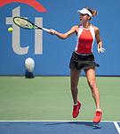 August 3,2019:   Anna Kalinskaya (RUS) loses to Jessica Pegula (USA) 6-3, 3-6, 6-1, at the CitiOpen being played at Rock Creek Park Tennis Center in Washington, DC, .  ©Leslie Billman/Tennisclix/CSM