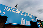 A Welcome to Ingfield sign. Yorkshire v Parishes of Jersey, CONIFA Heritage Cup, Ingfield Stadium, Ossett. Yorkshire's first competitive game. The Yorkshire International Football Association was formed in 2017 and accepted by CONIFA in 2018. Their first competative fixture saw them host Parishes of Jersey in the Heritage Cup at Ingfield stadium in Ossett. Yorkshire won 1-0 with a 93 minute goal in front of 521 people. Photo by Paul Thompson