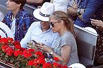 Spanish journalist Lujan Arguelles during Madrid Open Tennis 2016 match.May, 3, 2016.(ALTERPHOTOS/Acero)