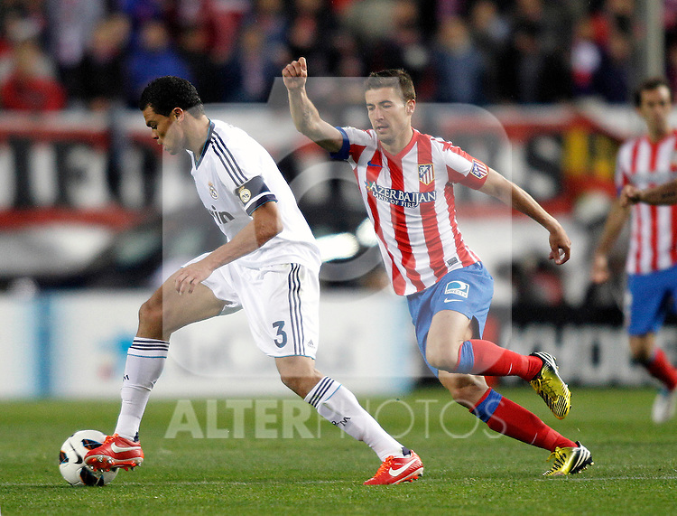 Real Madrid's Pepe Atletico's Gabi  during La Liga BBVA match. April 27, 2013.(ALTERPHOTOS/Alconada)
