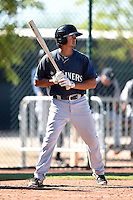 Seattle Mariners second baseman Chris Mariscal (6) during an Instructional League game against the Cleveland Indians on October 1, 2014 at Goodyear Training Complex in Goodyear, Arizona.  (Mike Janes/Four Seam Images)