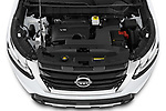 Car Stock 2022 Nissan Pathfinder SL 5 Door SUV Engine  high angle detail view