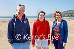 Enjoying a stroll on Inch beach on Saturday, l to r: Thomas, Ellen and Eileen Ashe.