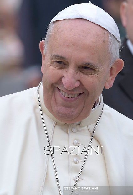 Pope Francis during his weekly general audience in St. Peter square at the Vatican, Wednesday.November 26, 2014