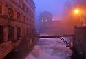 18/11/05 - THIERS - PUY DE DOME - FRANCE - La Durolle en crue dans la Vallee des Usines - Photo Jerome CHABANNE