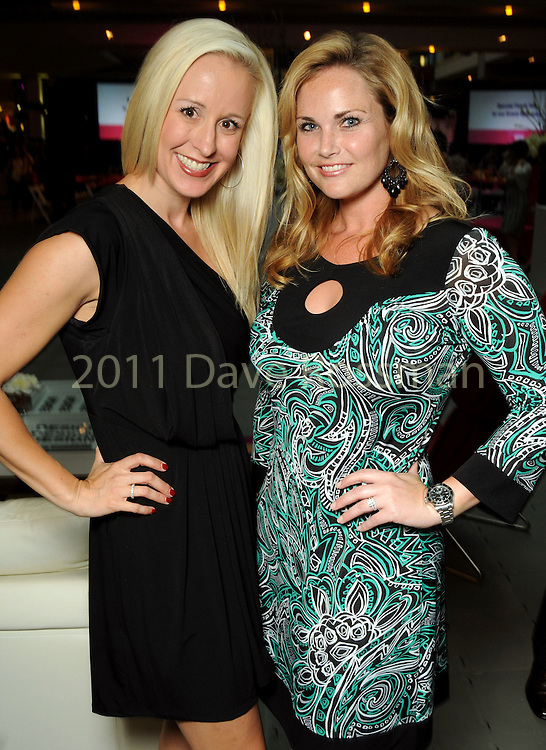 Jennifer Brown and Kristy Montgomery at the Simon Fashion Now event at the Houston Galleria Thursday April 14,2011.(Dave Rossman/For the Chronicle)