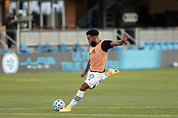 SAN JOSE, CA - SEPTEMBER 16: Eryk Williamson #30 of the Portland Timbers during warmups before a game between Portland Timbers and San Jose Earthquakes at Earthquakes Stadium on September 16, 2020 in San Jose, California.