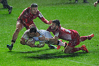 Julien Ory of Toulon disallowed try during the European Rugby Challenge Cup Round 5 match between the Scarlets and RC Toulon at the Parc Y Scarlets in Llanelli, Wales, UK. Saturday January 11 2020
