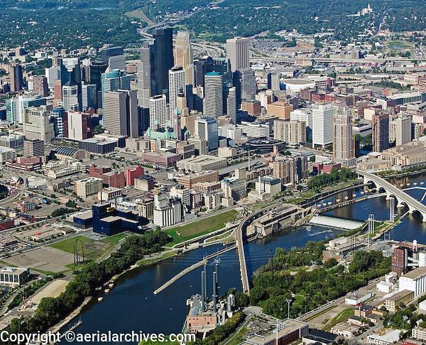 aerial photograph of Minneapolis, MN