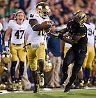 Sept. 14, 2013; DaVaris Daniels (10) runs for a touchdown after a catch as Purdue Boilermakers cornerback Ricardo Allen (21) defends.<br /> <br /> Photo by Matt Cashore